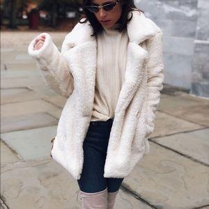 🆕Myra Ivory Faux Fur Teddy Coat